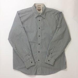 Men's Michael Kors Striped Button Down Shirt Sz XL